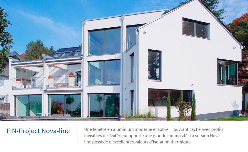 Fenêtre en aluminium Nova-line