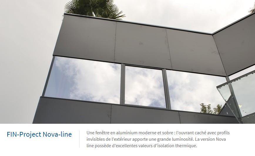 Nova-line fenêtre en aluminium