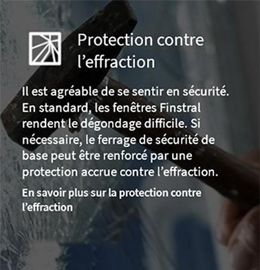 Protection contre l'effraction avec les fenêtres Finstral