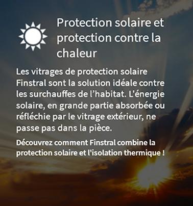 Protection soleil et contre la chaleur avec les vitrages Finstral